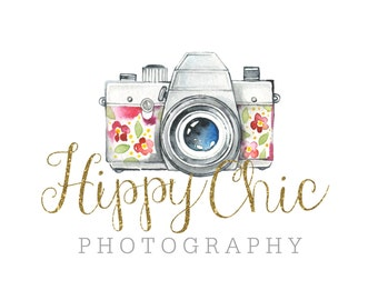 Premade Custom Logo - HIPPY CHIC - Premade Logo, Photography Logo, Logo Design, Logo Branding, Photographer Logo, CharlisWeb