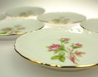 Plates  60's roses porcelain  plate