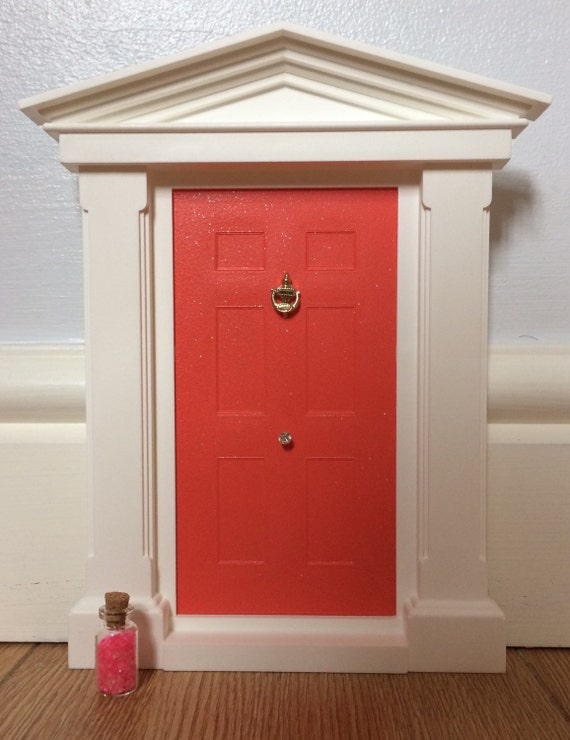 Sparkling coral my fairy door by myfairyandelfdoors on etsy for My fairy door uk
