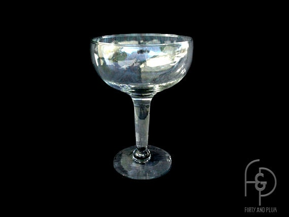 Large champagne glass centerpiece