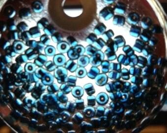 Blue Glass Seed Bead Ornament XSTP