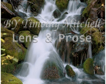 Digital download Waterfall, nature photography by Timothy Mitchell