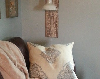 rustic wall light