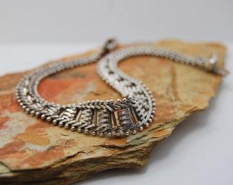 Mesh Weaved Vintage Sterling Silver Bracelet