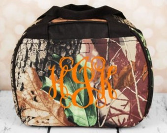 Camo Bowler Style Insulated Lunch Bag