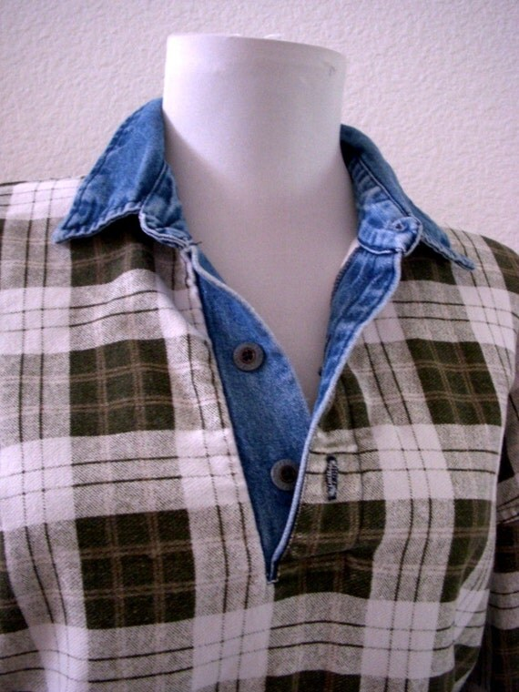 Mens Blue Chambray Shirt