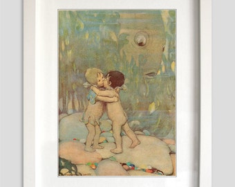 Beautiful Vintage Water Babies Print from the story by Charles Kingsley No.2