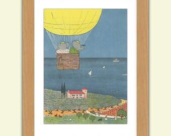 Babar A3 Satin Print reproduction Illustration - Jean de Brunhoff No.2
