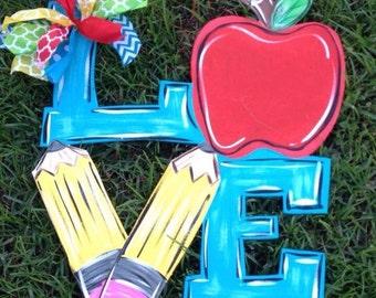 LOVE Teacher Door Hanger