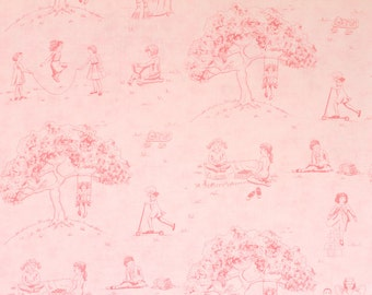 Cape Ann Pink Children Playing Scene by Liesl Gibson for Oliver + S for Moda OOP HTF