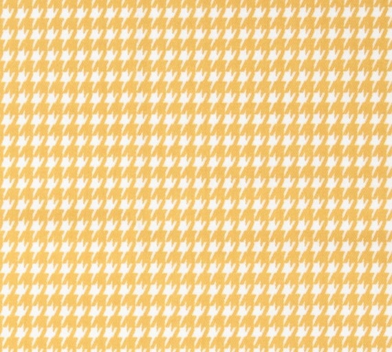 Fabric Shower Curtain Premier Prints Houndstooth Twill Corn Yellow ...