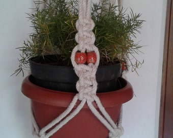 "Free shipping - 57"" Macrame Plant  Hanger  Pot Holder HANDMADE Natural Cotton Rope Hanging Planter Indoor Outdoor Bird Feeder  natural cord"