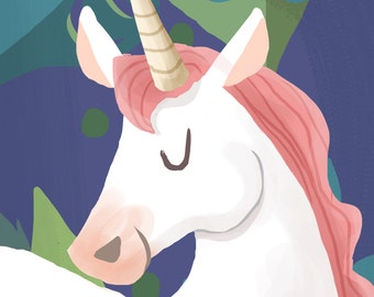 Cute Unicorn A5 Print