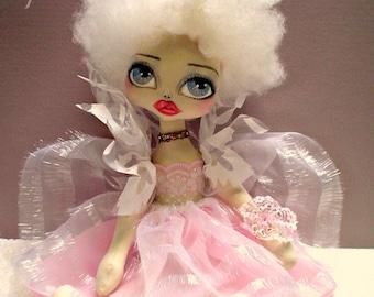 FAIRY doll,OOAK, Art Doll, PIERAH,(Moonlight) gumblossom, Australian Original, handmade doll, cloth doll, romantic doll,