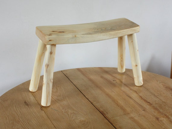 Small wooden bench for bedroom kitchen or living room - Petit banc pour salle de bain ...