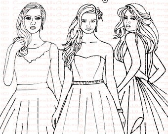 Wedding Coloring Book Bride Pages Bridal Sheets Fashion Dress