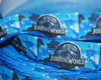 "Jurassic World  7/8"" grosgrain ribbon R318"