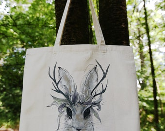 Wild Rabbit Tote Bag