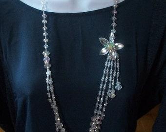 """Vintage                                                   Aurora  Borealis   Bead                             Necklace *** 38 """""""