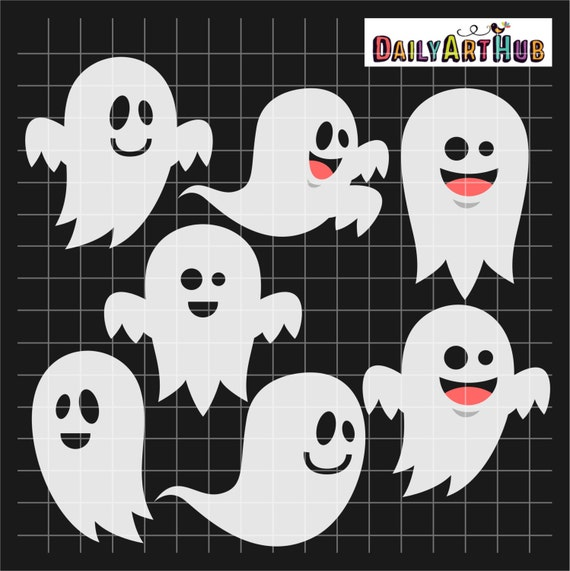 Items Similar To Funny Ghost Clip Art, Scary Clipart