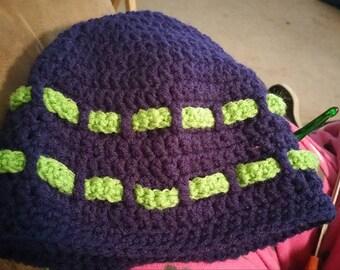 Beanie with 3D Yarn Stripes