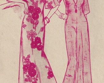 70's Muu Muu Pullover Dolman Sleeves, Patterns Pacifica 3200, Plus Size, 4 6 8 10 12 14 16 18 20 22, Size XS S M L XL Vintage Sewing Pattern