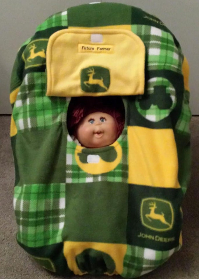 car seat cover john deere baby hand made by mamasgotmecovered. Black Bedroom Furniture Sets. Home Design Ideas