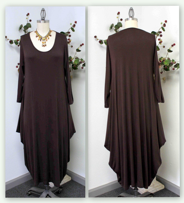 Plus size dressnew designer waterfall lagenlook plus size for Waterfall design dress