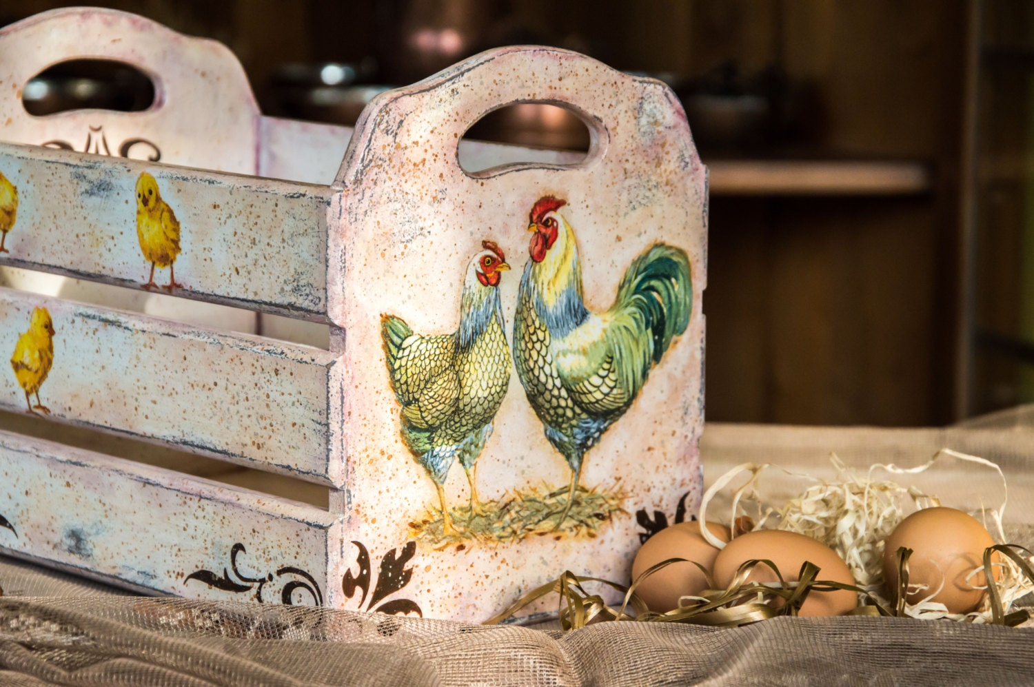 Farmhouse decor rooster kitchen decor country rooster - Kitchen rooster decor ...