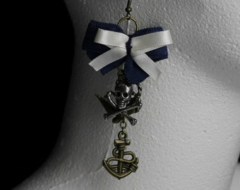 Retro/Vintage Style Nautical/Pirate/Sea punk Charm Earrings