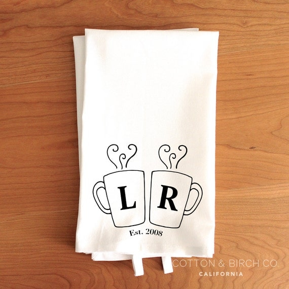 Personalised Wedding Gifts Towels : Personalized Wedding Tea Towel // Personalized Anniversary Tea Towel ...