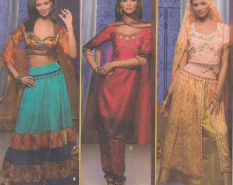 Simplicity Costumes 4249 Sewing Pattern - Bollywood Sari Sewing Pattern - Indian Costume - Uncut Sewing Pattern