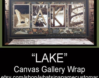 Canvas Gallery Wrap, LAKE, Wall Decoration, Lake House Decor
