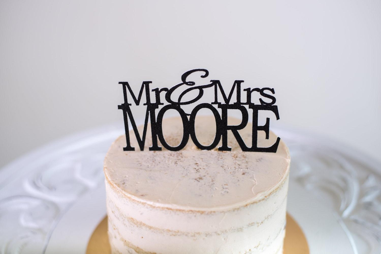 Mr & Mrs Custom Name Cake Topper Wedding Cake Topper