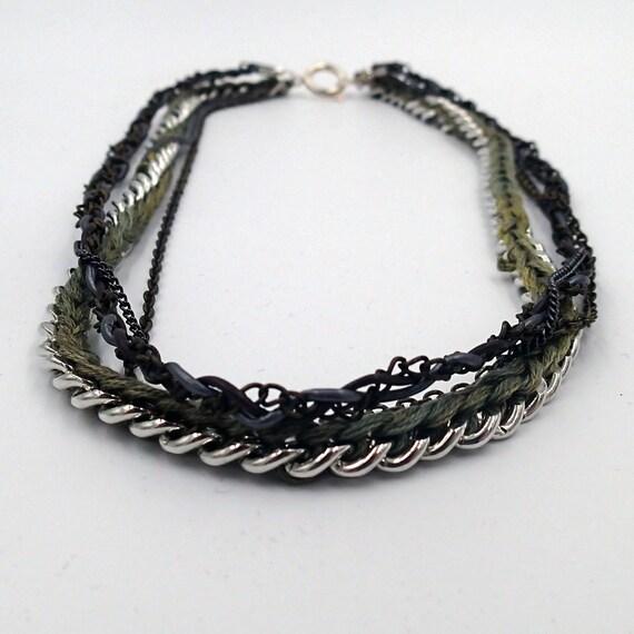 sale color me camo multi chain necklace 17 5