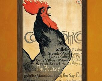 Cocorico French Art Magazine Cover 1899 - Magazine Cover Print Retro French Art Print Cocorico Poster French Print   Reproduction