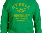 Hyrule University Hoodie - Saving Princess Since 1986 Hooded Sweatshirt - Choice of Colors - Sizes Youth Small - Adult 5XL - Legend of Zelda
