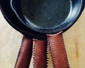 Cast Iron Leather Skillet Grippers