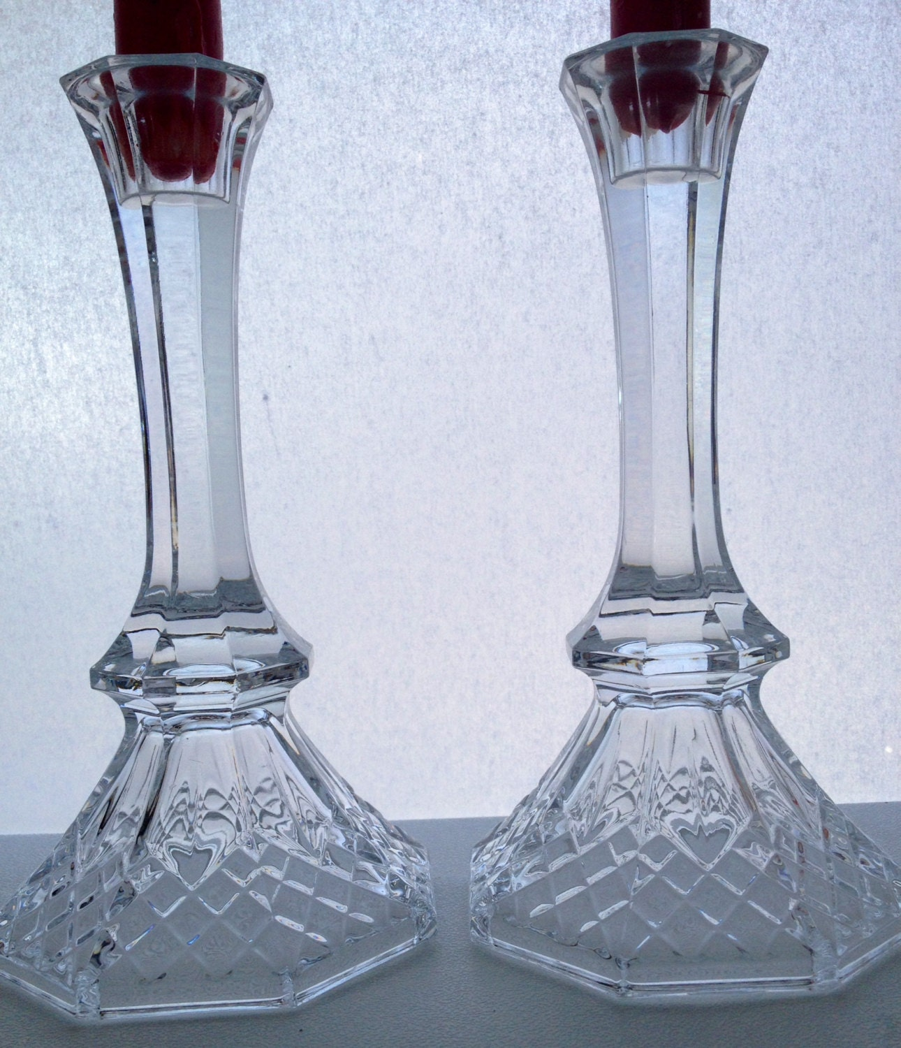 Glass Candle Holders Vintage Candle Holders By