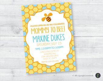 Honey Bee Baby Shower Invitation (boy)