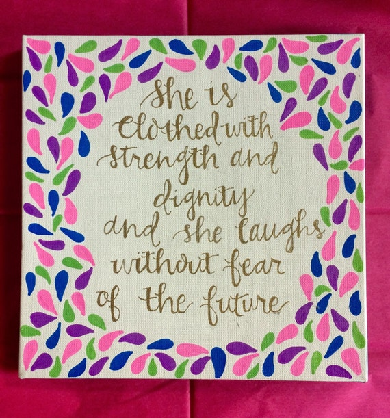 Proverbs 3125 Canvas Quote Painting Home Decor by