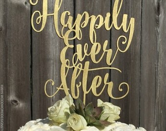 Happily Ever After - Wedding Cake Topper