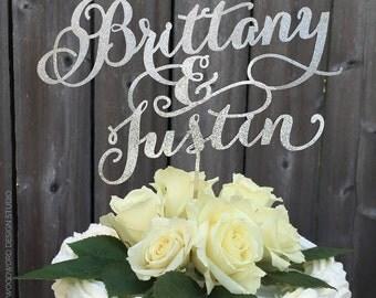 Wedding Cake Topper - Personalized Names - Custom Names