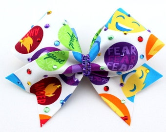 Inside Out Cheer Bow