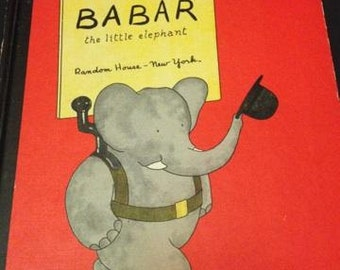 The Story of Babar Hardcover Published in 1960