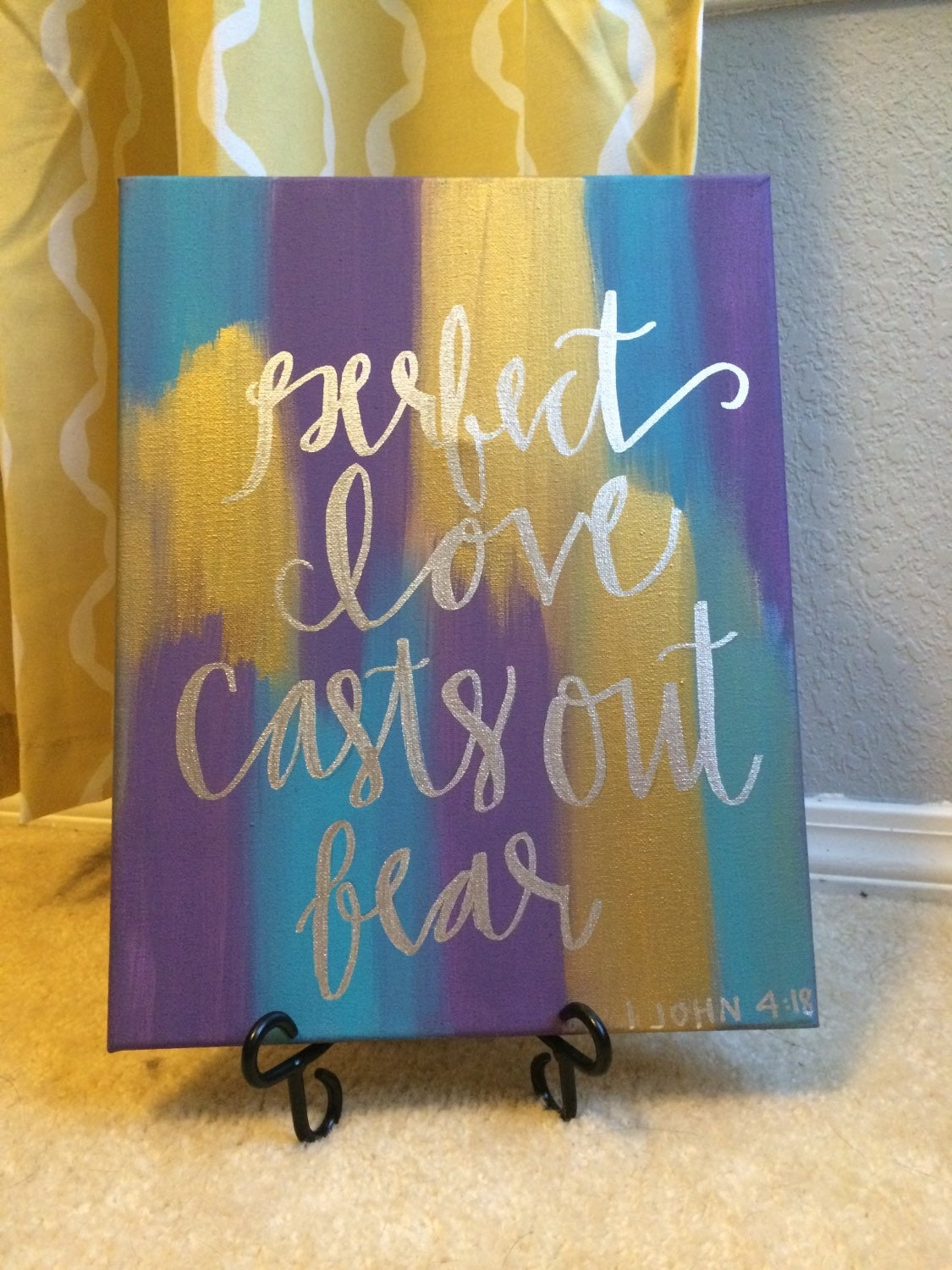 hand lettered bible verse canvas painting canvas wall hanging