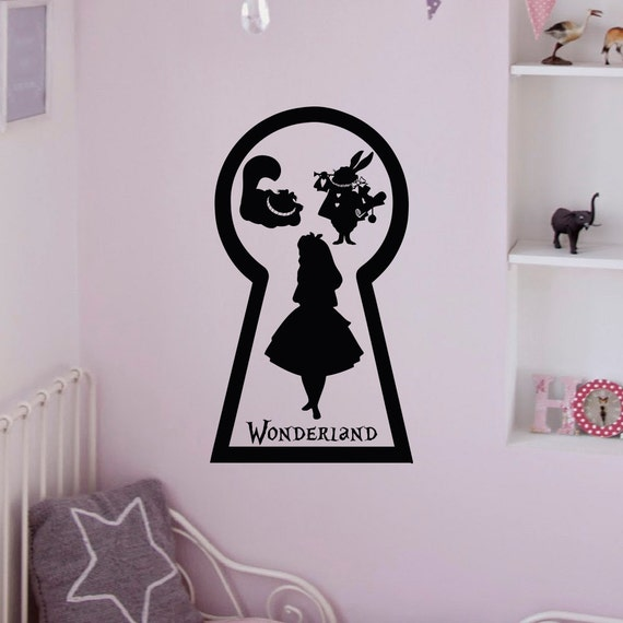 Alice In Wonderland Wall Decal White Rabbit by FabWallDecals