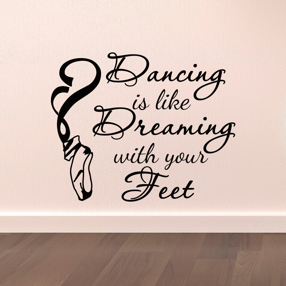 dance wall decal stickers dancing is like dreaming with your wallstickers folies dancer wall stickers