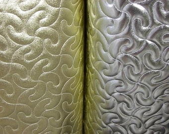 10 m x 1.40 cm manufacturing of shoes or bags synte quilted gold or Platinum