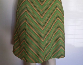 Vintage 70's skirt, striped skirt, short 70's skirt, 70's mod skirt, size m